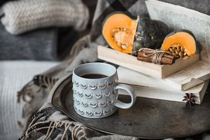 cozy autumn still life