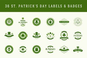 St. Patricks Day Labels and badges