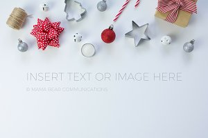 Christmas Gift Wrapping Stock Photo