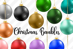 Christmas Baubles Clipart