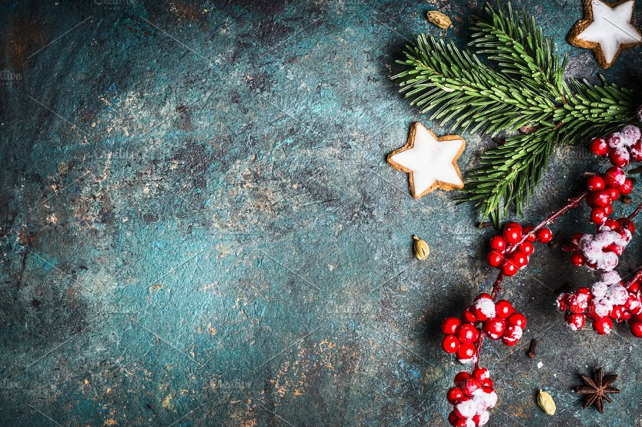rustic christmas background - Rustic Christmas Background