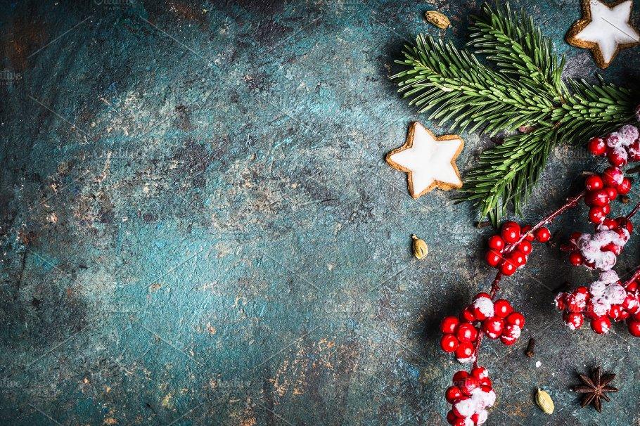 rustic christmas background - Rustic Christmas