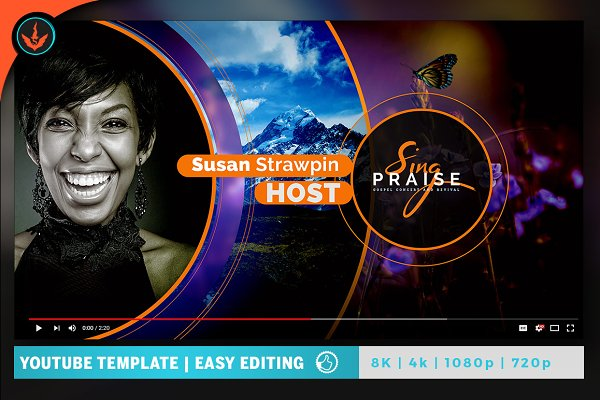 YouTube Templates: SeraphimChris - Sing Praise YouTube Video Artwork 2