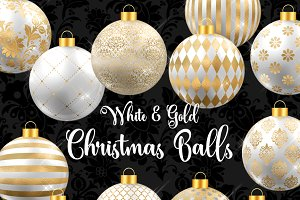White and Gold Christmas Balls