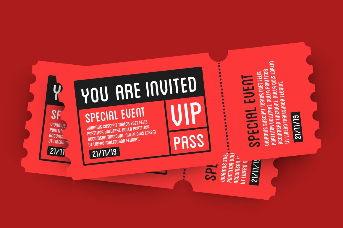 vip entry pass ticket stub design graphics creative market