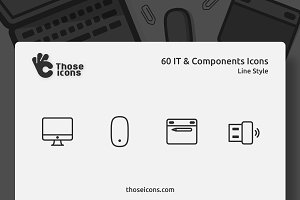 60 IT & Components Line Icon