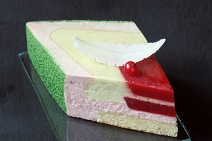 Strawberry Basil Lime Mousse Cake