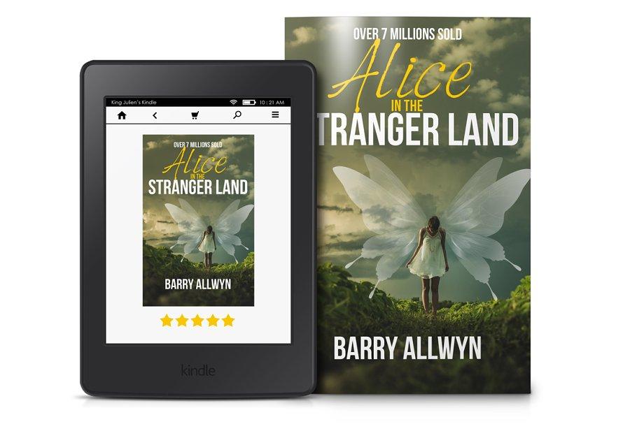 Kindle eReader With Book Mockup