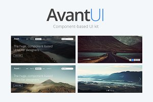 Avant - Huge Component Based UI Kit