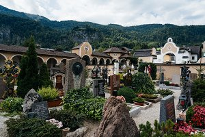 Old graveyard of St Gilgen in the Austrian Alps