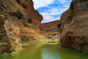 Sesriem canyon of Tsauchab river, Sossusvley Namibia