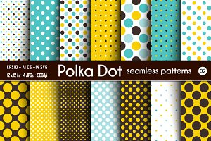 Polka Dot Seamless Patterns - 02