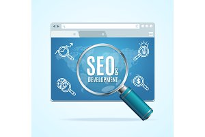 Web Page Search Engine Seo Concept