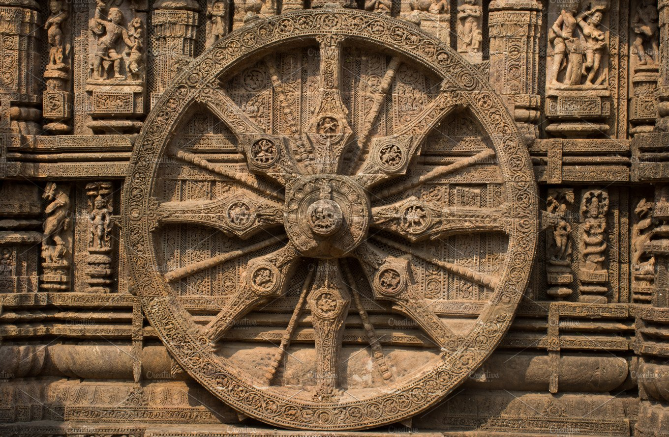 Ashoka chakra architecture photos creative market for Ashoka the great cuisine of india
