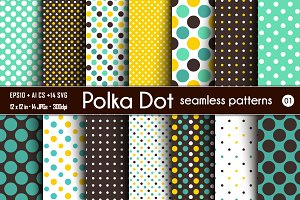 Polka Dot Seamless Patterns -01