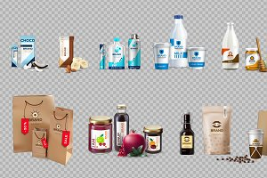 Vector food package mockup
