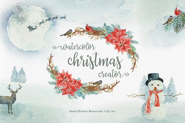 Watercolor Christmas Creator