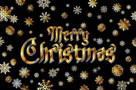 Merry Christmas Black Lettering Graphics Creative Market