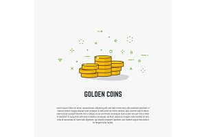 Golden coins illustration