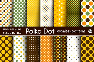 Polka Dot Seamless Patterns - 04