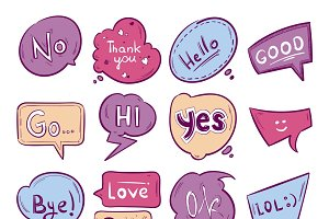 Graphic message text set