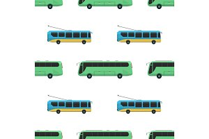 City transport public industry bus seamless pattern vector flat illustrations traffic vehicle street tourism travel way.