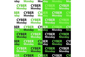 Cute set of Cyber Monday sale seamless patterns in contrast colors