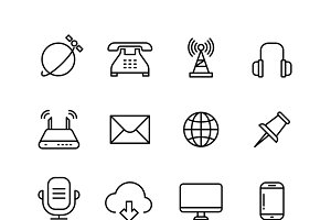 Web internet vector line icons