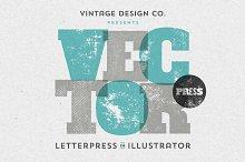 VectorPress: Illustrator Letterpress