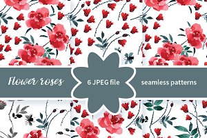 №258 Seamless patterns with roses