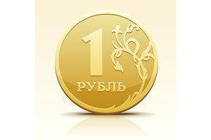Vector image coin ruble