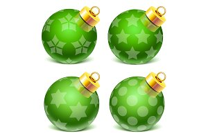 vector christmass glass toys