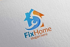Real estate Logo. Fix Home Logo