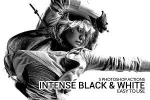 Intense Black & White Actions