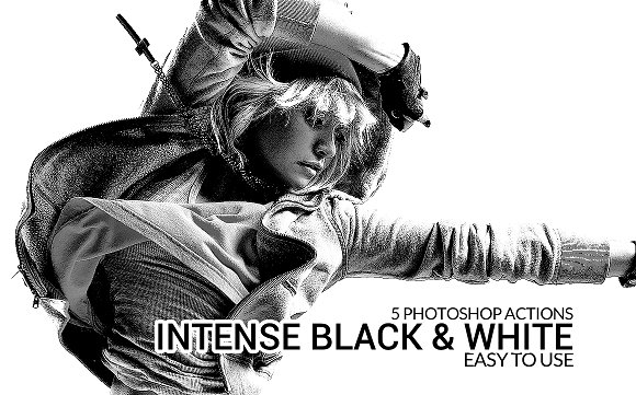 Intense Black White Actions