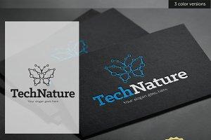 Butterfly Tech Nature Logo