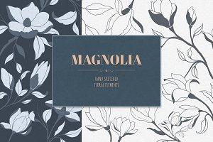 Hand Sketched Magnolia