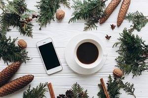 Smartphone and christmas gifts