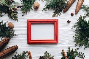 Christmas photo frame.