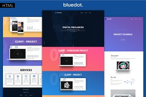 bluedot - Minimal Portfolio Template
