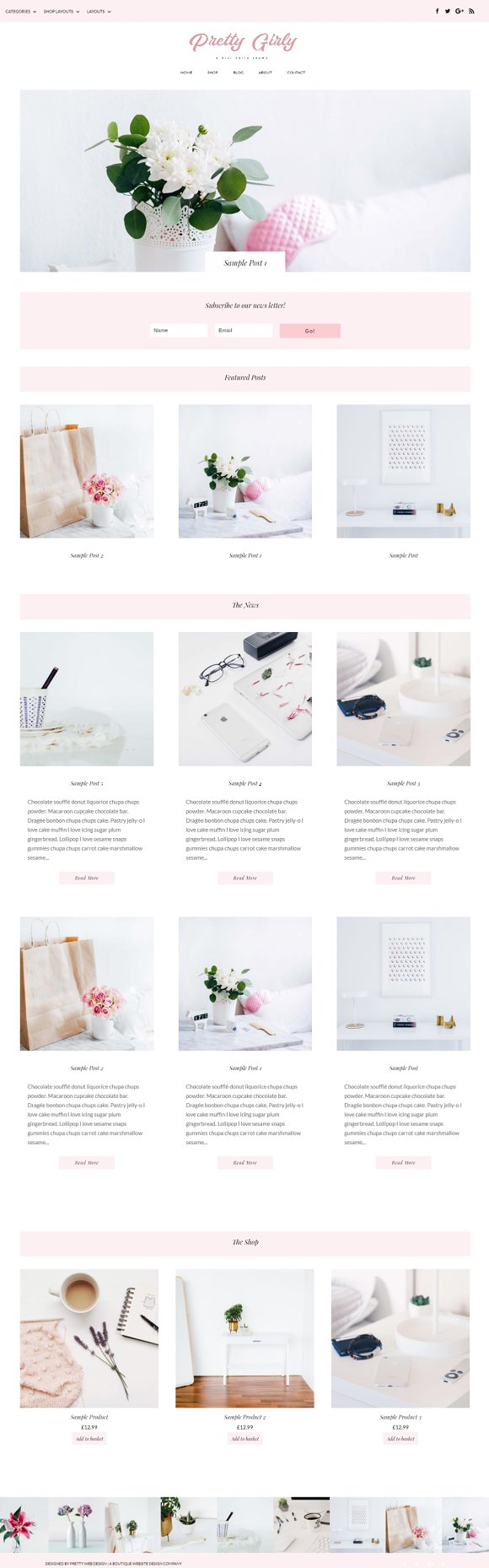 pretty girly wordpress theme wordpress blog themes creative market