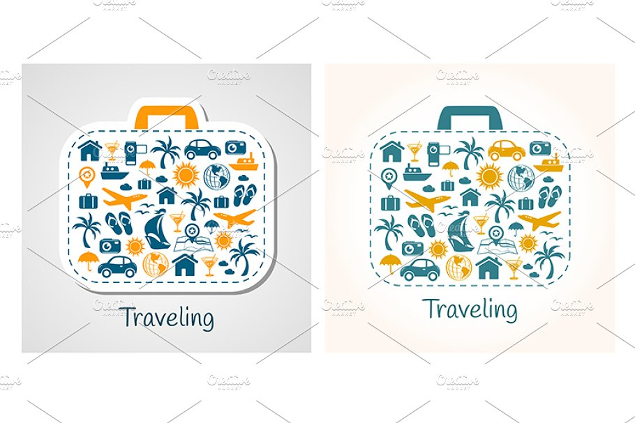 Travel holiday suitcase set