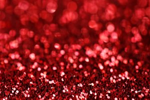 Background of red glitters