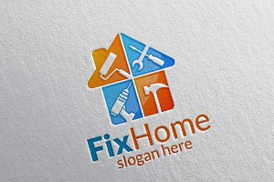 Real estate Logo, Fix Home Logo