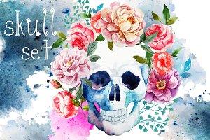 Vector Set  Skull