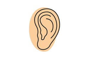 Ear color icon