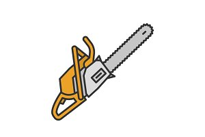 Chainsaw color icon