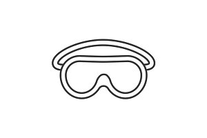 Goggles linear icon