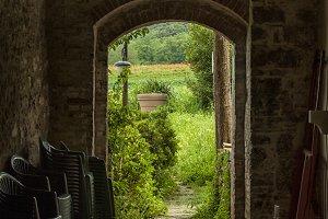 See through to garden