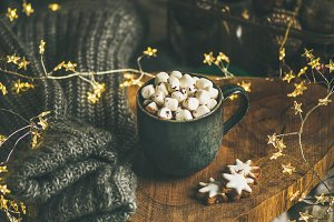 Christmas winter hot chocolate